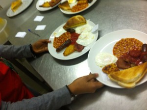 Get Involved serving breakfast